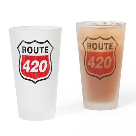 Route 420 Sign Glass