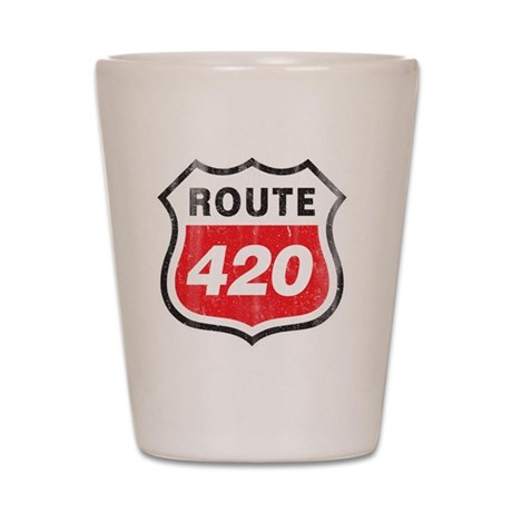 Route 420 Shot Glass