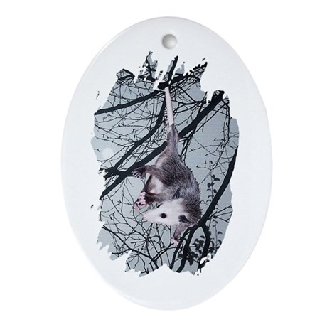 Moonlight Possum Oval Ornament