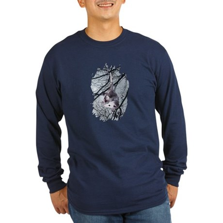 Moonlight Possum Long Sleeve Dark T-Shirt
