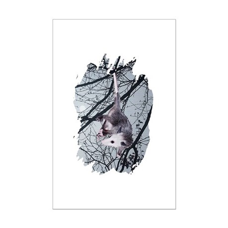 Moonlight Possum Mini Poster Print