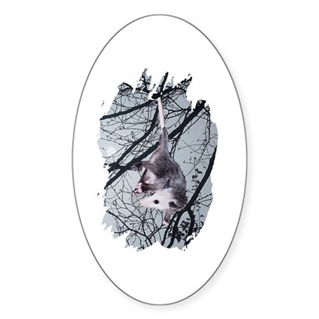 Moonlight Possum Oval Sticker