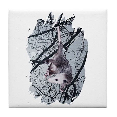 Moonlight Possum Tile Coaster