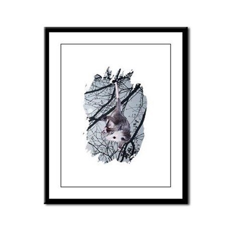 Moonlight Possum Framed Panel Print