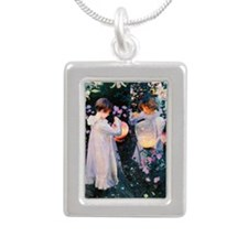 K/N Sargent Lily Silver Portrait Necklace