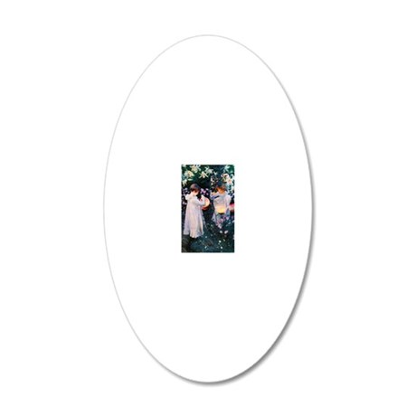 K/N Sargent Lily 20x12 Oval Wall Decal