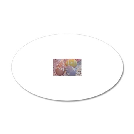 Mom Easter Eggs 20x12 Oval Wall Decal