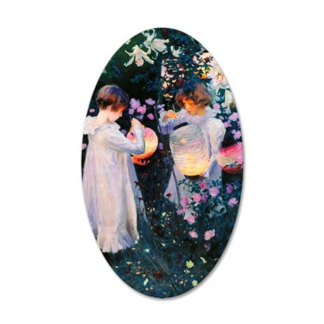 Journal Sargent Lily 35x21 Oval Wall Decal