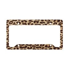 leopardBEACHBAGTEMPLATE License Plate Holder