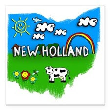 "New Holland Square Car Magnet 3"" x 3"""