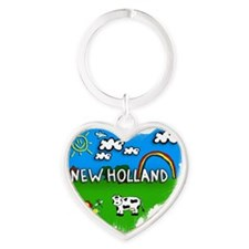 New Holland Heart Keychain