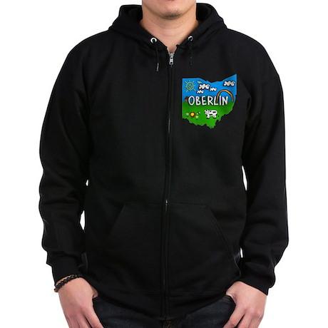 Oberlin Zip Hoodie (dark)