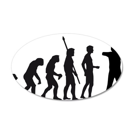 Evolution BogenschieÃ?en 35x21 Oval Wall Decal