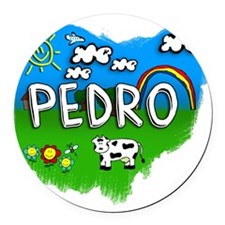 Pedro Round Car Magnet