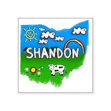 "Shandon Square Sticker 3"" x 3"""