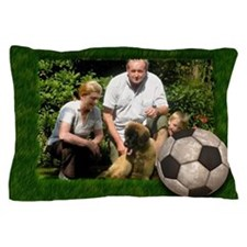 Your photo in a Soccer Frame Pillow Case