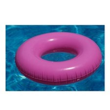 Pink inflatable ring floa Postcards (Package of 8)