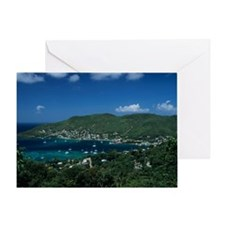 Bequia, Caribbean Islands, aerial vi Greeting Card