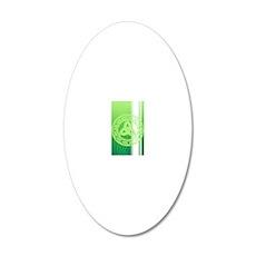 ipod4celticknot 20x12 Oval Wall Decal