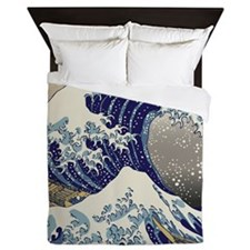 Hokusai_Great_WaveShowerCurtain Queen Duvet