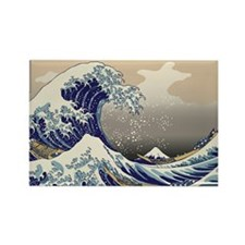 Hokusai_Great_WavePillow Rectangle Magnet