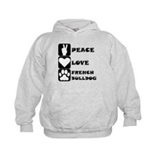 Peace Love French Bulldog Hoodie