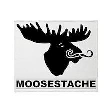 moosestache2 Throw Blanket
