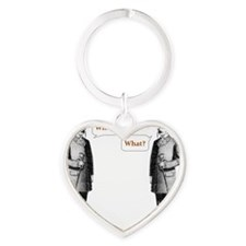 what what Heart Keychain