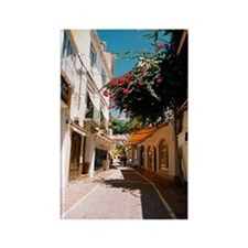 Street through old town of Marbel Rectangle Magnet
