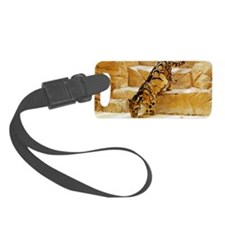 Clouded Leopard stepping down th Luggage Tag