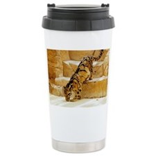 Clouded Leopard stepping down t Ceramic Travel Mug