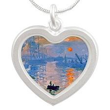 RM Monet Sunrise Silver Heart Necklace