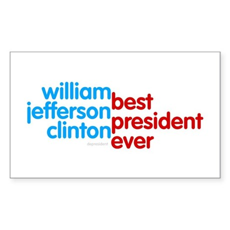Best President Ever Rectangle Sticker