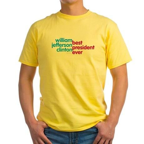Best President Ever Yellow T-Shirt