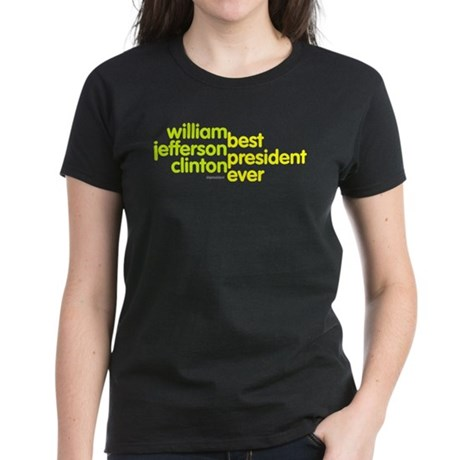 Best President Ever Womens Black T-Shirt