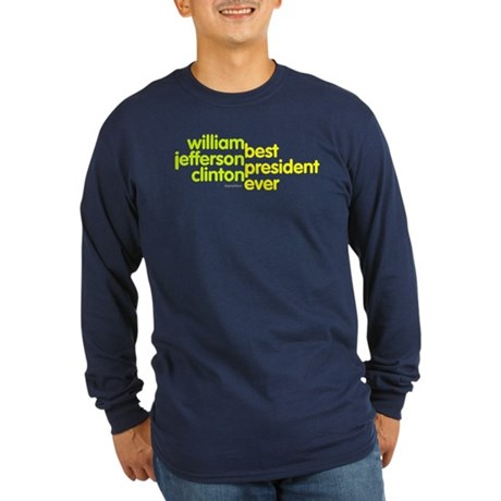 Best President Ever Long Sleeve Navy Blue T