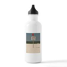 Danger sign on the bea Water Bottle