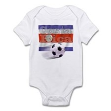 Soccer Flag Costa Rica Infant Bodysuit