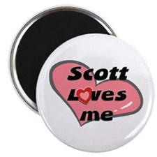 scott loves me Magnet