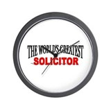 &quot;The World's Greatest Solicitor&quot; Wall Clock