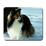 Winter Day Sheltie Mousepad