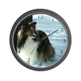 Winter Day Sheltie Wall Clock