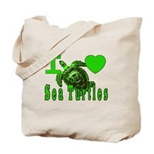 I LOVE ( Heart ) Sea Turtles  Tote Bag