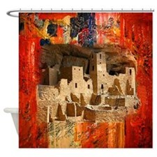 Adobe Cliffs Shower Curtain