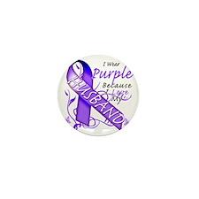 I Wear Purple Because I Love My Husban Mini Button