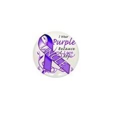 I Wear Purple Because I Love My Uncle Mini Button