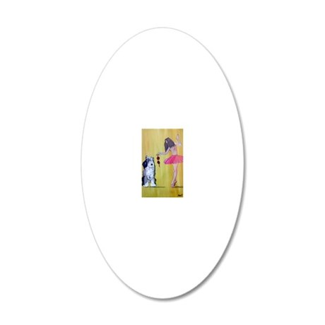 Beauty and the Beast. 20x12 Oval Wall Decal