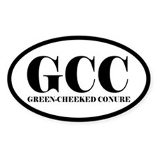 GCC Green-Cheeked Conure Oval Decal