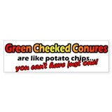 Potato Chips Green Cheeked Conure Bumper Bumper Sticker