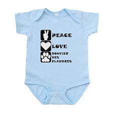 Peace Love Bouvier des Flandres Body Suit